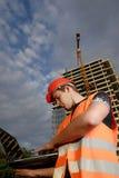 Supervisor de la construcción Imagen de archivo libre de regalías