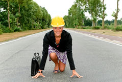Supervisor  female  nature road Stock Photography