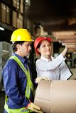 Supervisor And Foreman Checking Stock Stock Photography