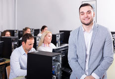 Supervisor giving instructions stock photos