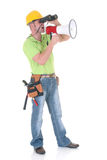 Supervisor with megaphone Royalty Free Stock Photo