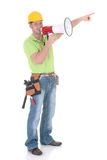 Supervisor with megaphone Royalty Free Stock Photography