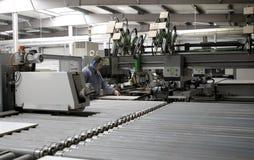 Supervisor na fábrica automática Fotos de Stock