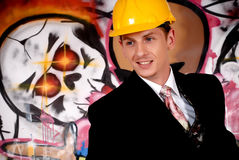 Supervisor urban graffiti Stock Image