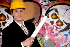 Supervisor urban graffiti Royalty Free Stock Photography