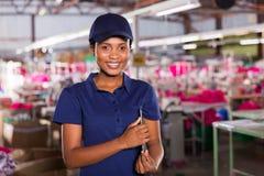 Supervisore della fabbrica dell'abbigliamento Immagine Stock Libera da Diritti