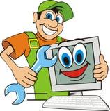 Supervisore di riparazione del calcolatore Fotografie Stock Libere da Diritti