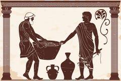 Supervisore e schiavo royalty illustrazione gratis
