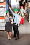 Supervisors And Foreman Working At Warehouse Stock Image