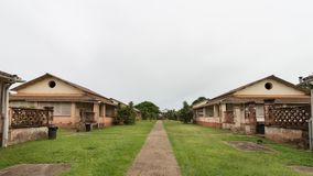 The Supervisors residences at Salvation& x27;s Islands. The Supervisor Residences at Ile Royale, Salvation& x27;s Islands, French Guiana Royalty Free Stock Photos