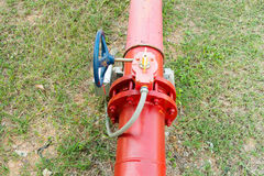 Supervisory valve for fire protection system. Stock Photo