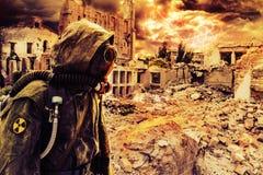 Superviviente de la apocalipsis de los posts único Foto de archivo libre de regalías