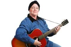 Superviviente del músico y del cáncer fotos de archivo