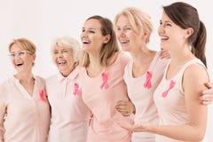 Supervivientes del cáncer de pecho foto de archivo libre de regalías