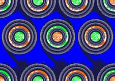 Superwax africain de tissu d'impression de mode de textile illustration stock