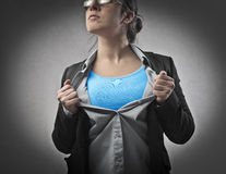 Superwoman Stockbild