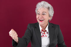 Superwoman - the senior manager. Power, success stock images