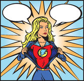 superwomancomic Zdjęcia Royalty Free