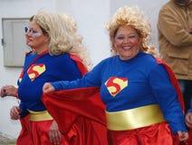 Superwomen καρναβάλι 2014 Lanzarote Στοκ Εικόνα