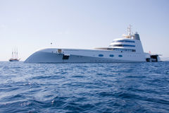 Superyacht Stockbild
