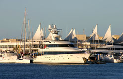 Superyacht On The Gold Coast Stock Photo