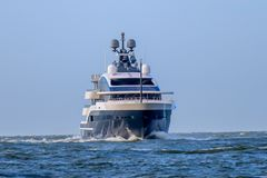 Superyacht luxuoso no northsea foto de stock