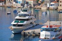 Superyacht mit vierzig Lieben, Halki Stockfotografie