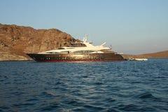 superyacht paros Греции стоковая фотография rf