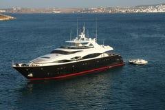 Superyacht - Paros - Griekenland Stock Afbeeldingen