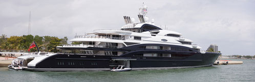 Superyacht Serene in Miami Royalty Free Stock Images