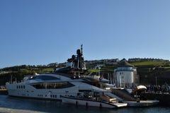 Superyacht in whitehaven harbour