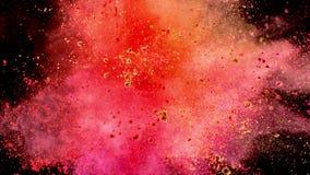 Superzeitlupe der farbigen Pulverexplosion stock footage