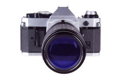 Superzoom Retro Film Camera Royalty Free Stock Photos