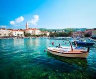 Supetar Brac ö, Kroatien adriatic hav Arkivbilder