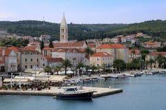 Supetar, Brac, Croatia. Supetar, city on isle Brac, Dalmatia, Croatia. Harbour for the ferry from Split royalty free stock photography