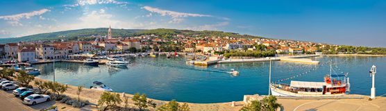 Supetar on Brac island panoramic view Stock Photos