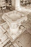 Supetar church baptistery Royalty Free Stock Photos