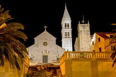 Supetar church by night Stock Photography