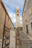 Supetar church tower Royalty Free Stock Images