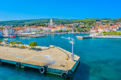 Supetar coastal cityscape on Island Brac, Croatia. Royalty Free Stock Photography