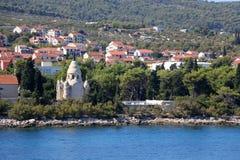 Supetar, Croatia. Chapel and mausoleum on a historic cemetery in Supetar, island Brac, Croatia stock photography