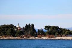 Supetar, Croatia. Chapel and mausoleum on a historic cemetery in Supetar, island Brac, Croatia royalty free stock photos