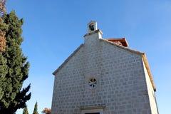 Supetar, Croatia. Historical chapel of St. Nicholas on a cemetery in Supetar, island Brac, Croatia royalty free stock photos