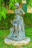 Girl statue in Supetar royalty free stock images