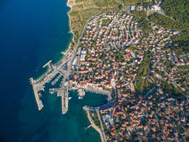 Supetar harbour Royalty Free Stock Image