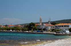 Supetar hvar croatia. Harbor town of supetar broc island croatia stock image