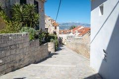 Supetar, ilha de Brac, Croácia Imagem de Stock Royalty Free