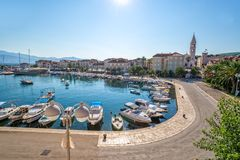 Supetar on Island Brac in Croatia Stock Photos