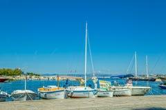 Supetar moored boats Royalty Free Stock Photo
