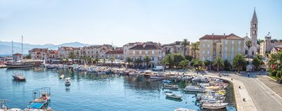 Supetar na ilha Brac na Croácia Foto de Stock Royalty Free